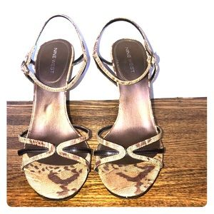 Nine West snakeskin leather sandals